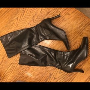 NEW NINE WEST BLACK LEATHER BOOTS SIZE 7 YETTIER